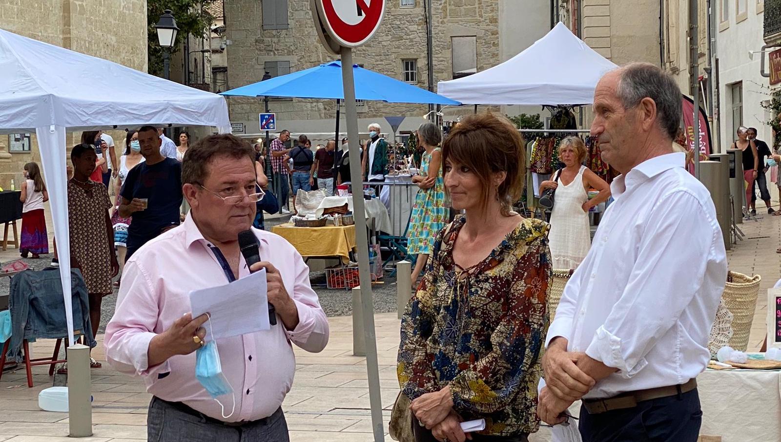 Christian POUJOL inaugure les vendredis de l'Artisanat à Lunel