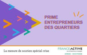 Prime de 1500 € aux artisans et commerçants entrepreneurs des quartiers prioritaire de la ville