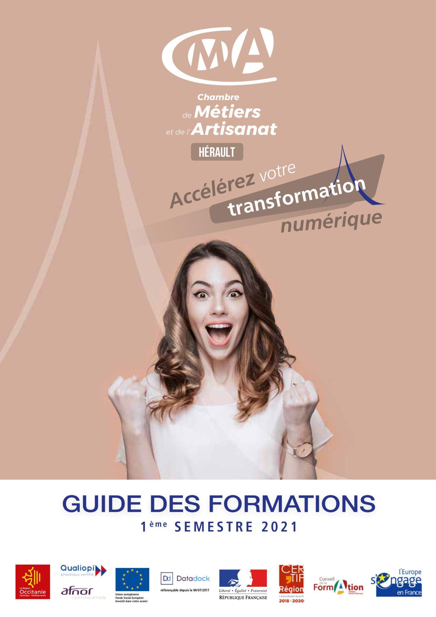 Le guide des formations du 1er semestre est disponible