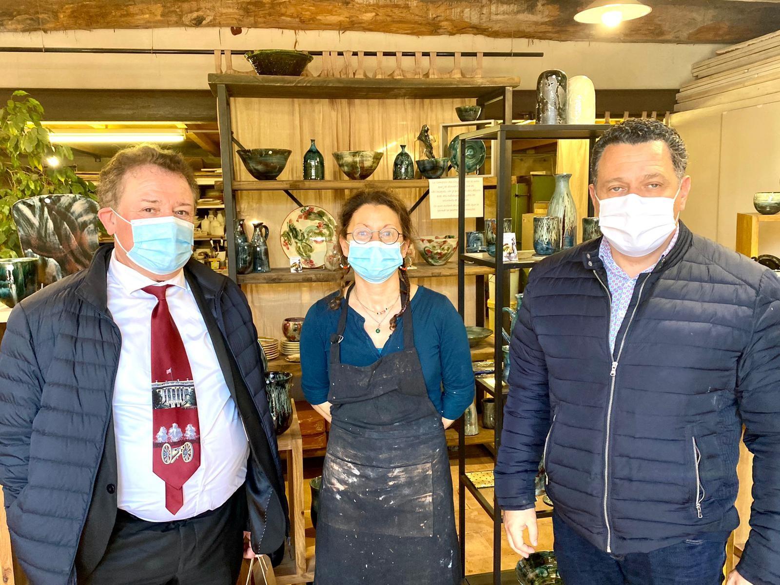 Christian POUJOL, président de la CMA34, rencontre les artisans de Saint-Jean-de-Fos