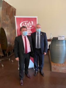 Rencontre entre Christian POUJOL Président de la CMA34 et Joël FOURNY Président de CMA FRANCE