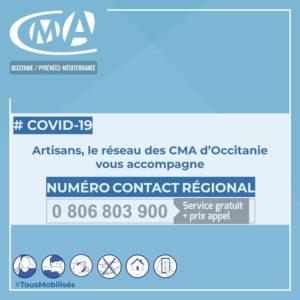 #COVID19 – La CMAR Occitanie réactive son numéro d'urgence pour les artisans