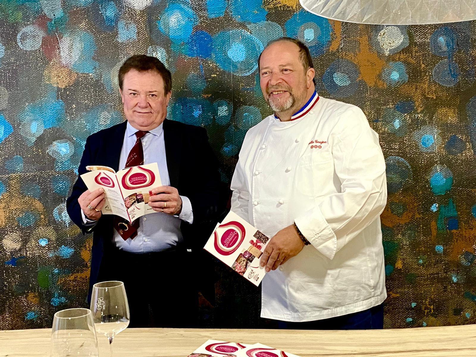 Le Chef étoilé Gilles GOUJON, Président d'Honneur du Concours Hérault Gourmand 2021-2022