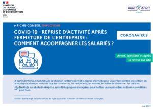 Guide employeurs – reprise d'activité des salariés