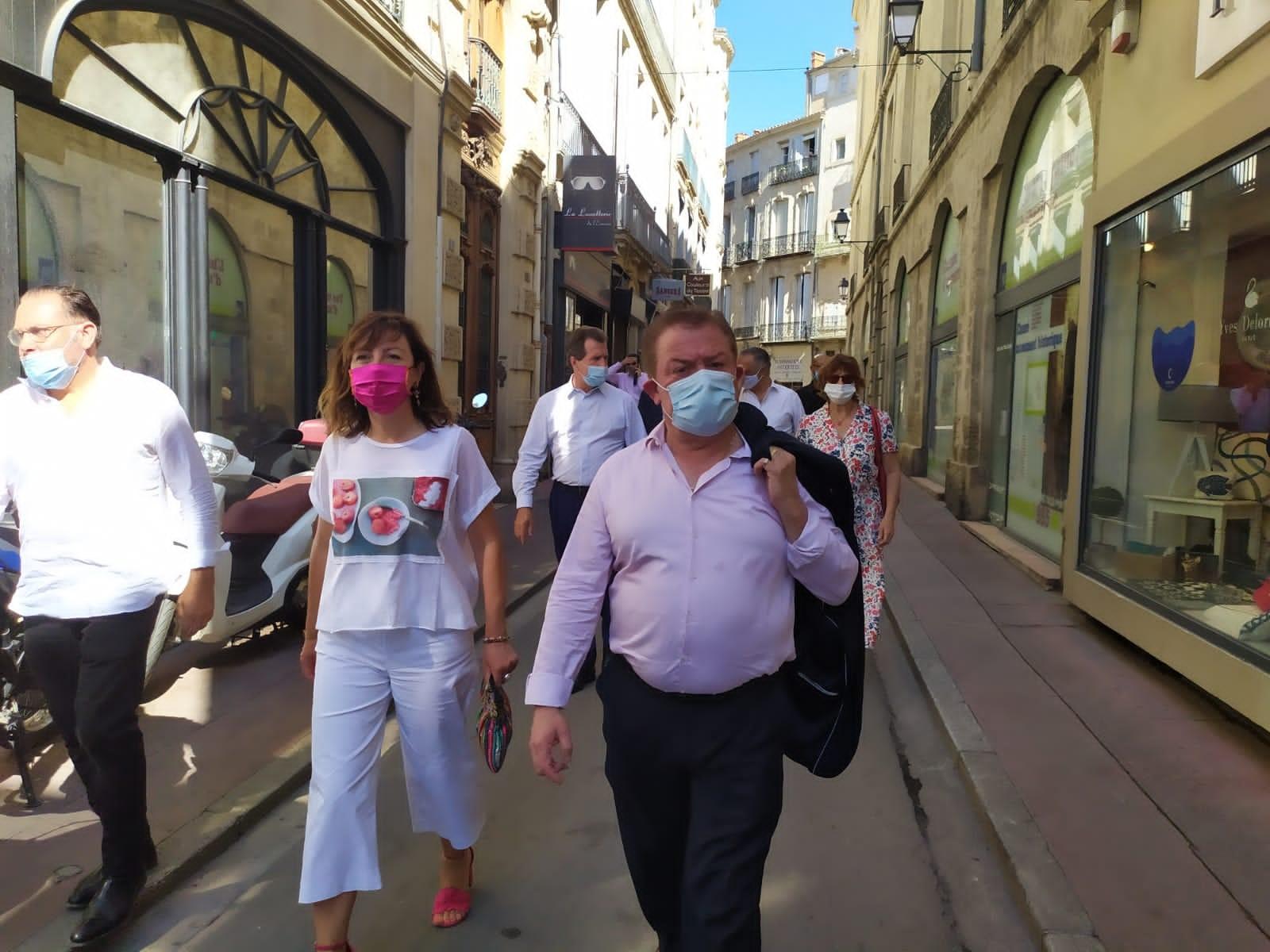 Carole DELGA rend visite aux artisans du centre-ville de Montpellier