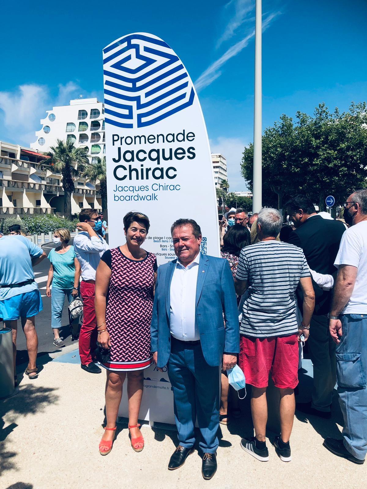 Inauguration de la promenade Jacques Chirac
