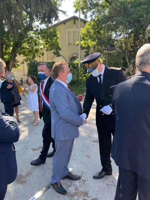 Cérémonie d'accueil du nouveau Préfet de l'Hérault  : Hugues Moutouh